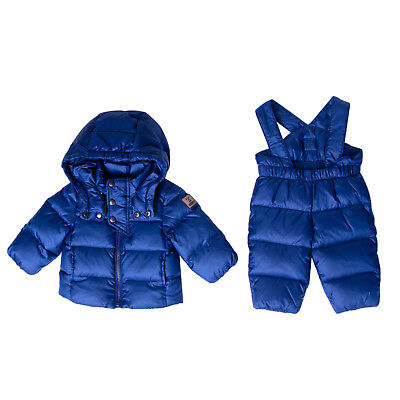 BREST Down Quilted Jacket & Trousers Set Size 3-6M Detachable Hood RRP €330