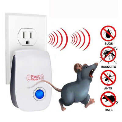 1/2/5 Pack Ultrasonic Pest Control Repeller Reject Rat Mouse Mice spider UK