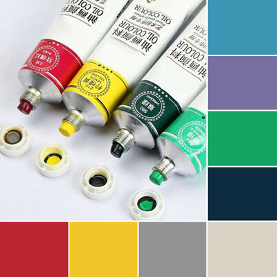 New 8 Colour Oil Paint Pigment Artist Art Painting Supplies 50ml Tube Xmas Gift