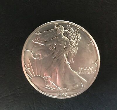 USA 1 Dollaro (Oncia) Argento Liberty Eagle Del 1990 Fior di Conio