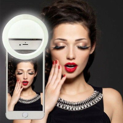 USB Rechargeable Ring Flash-Fill Selfie LED Light Photography Camera For iPhone