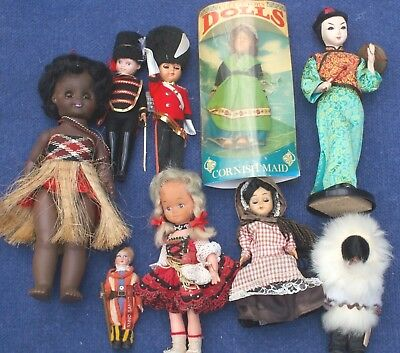 Vintage International DOLLS, 9 X Dolls  Sleep eyes, Plastic Looking for new home