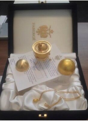 Faberge Russian Egg Boxed With Certificate Original Signed Antique