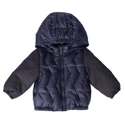 BREST Down Quilted Jacket Size 6-9M Wool Sleeve Detachable Hood Full Zip RRP€280