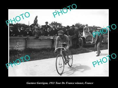 Old Large Historic Cycling Photo, 1911 Tour De France Winner Gustave Garrigou 1