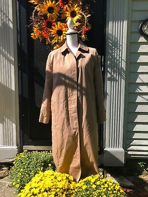 London Fog Women's Trench Coat Sz 14P Beige Zip Out Faux Fur Lining Irregular