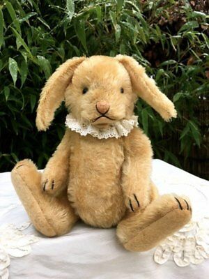 Antique / Vintage 9 inch German Steiff Rabbit with button 1940's