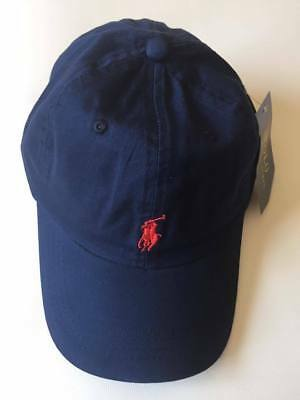 Polo Ralph Lauren Baseball Cap Blue Red One Size Adults Unisex Clearance On Sale