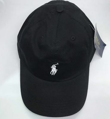 Polo Ralph Lauren Baseball Cap Black White One Size Adults Unisex Clearance Sale