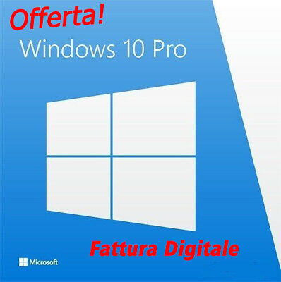 Windows 10 Pro Professional 32/64 Bit - Fatturabile