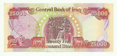 25,000 IRAQI DINAR BANKNOTES - Genuine IQD almost uncirculated Bank Note 25000