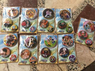 Set 9 pc One Piece Anime CLASSIC CARTOON Charector brooch Patch  .