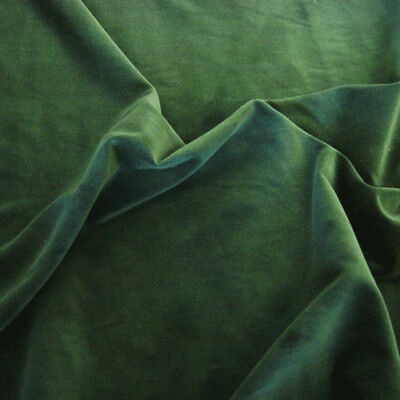 BOTTLE GREEN - 100% Cotton Velvet Fabric Sold by the metre! LUXURIOUS MATERIAL!