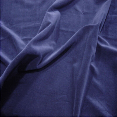 NAVY BLUE - 100% Cotton Velvet Fabric Sold by the metre! LUXURIOUS MATERIAL!