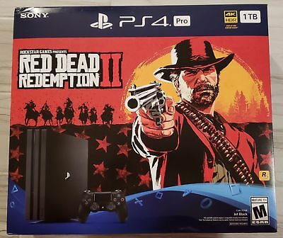Sony PlayStation 4 Pro 1TB Red Dead Redemption Game not Inluded CUH-7215B - GST2
