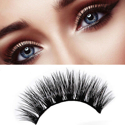 5Pairs 3D Soft Thick Cross Cluttered Stage Smoke Makeup Long False Eyelashes Lot