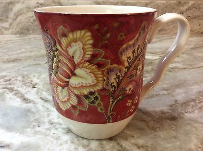 222 Fifth Gabrielle Red Coffee Mug. Beautiful. Holds 14 Ounces. Porcelain. New.