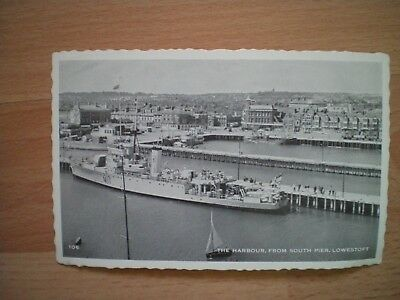 Postcard - The Harbour From South Pier, Lowestoft