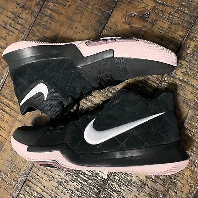 online store be6c3 bf402 NIKE KYRIE 3 Mens Basketball Shoes Black White Silt Red SZ 11 NO BOX TOP