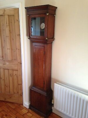 Antique Grandfather Longcase Clock in Oak - Case Only