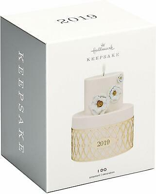 Hallmark Keepsake 2019 I Do Wedding Cake Dated Porcelain and Metal Ornament