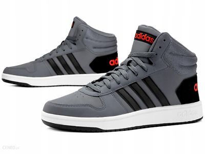 new concept 8ff78 98d92 Adidas Hoops 2.0 Mid Scarpe Uomo Basket Vintage Man Shoes B44670  Grey black wht