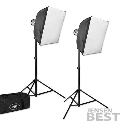 JensenBest Photography Studio Strobe Softbox Light Kit +Wireless Trigger 400 w/s