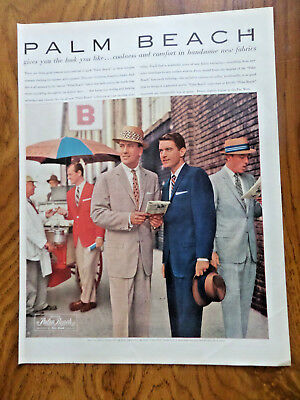 1957 Palm Beach Suits Ad Coolness Comfort in Handsome New Fabrics