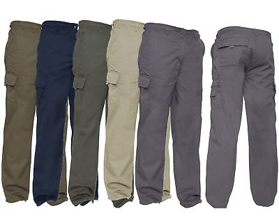 Brand New Mens Casual 100% Cotton Cargo Pocket Lightweight Combat Trousers Pants