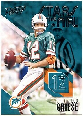 Bob Griese #24 Prestige 2017 Panini Stars Of The NFL Chase Card (C2423)