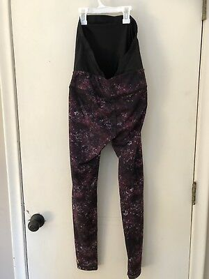 Lucy Medium Maternity Active Leggings Maroon Black
