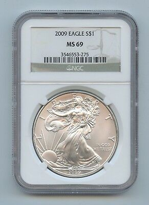2009 American Silver Eagle - NGC MS69 - #D15081