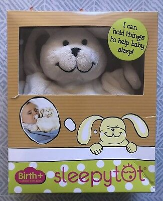 Sleepytot Bunny ~ Large Cream Rabbit Soother Dummy Holder with box