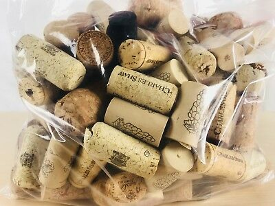 SEALED BAG of WINE CORKS CRAFT Includes RARE BLACK Corks Varied Shapes Brands
