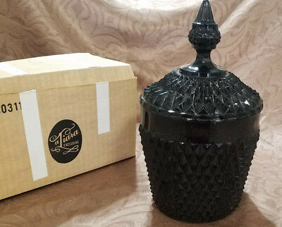 Vintage Tiara Exclusives Cameo Black Diamond Pt 2 pc. Ice Bucket (1980s)