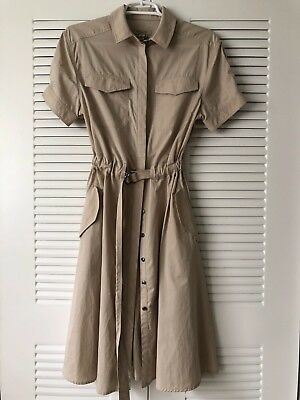 433f7957a6 Burberry Brit 100% Authetic Tuesday Short-Sleeve Drawstring-Waist Dress NWT   695