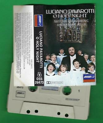 Luciano Pavarotti  O Holy Night  >  Cassette Tape  (*_*)  Play Tested