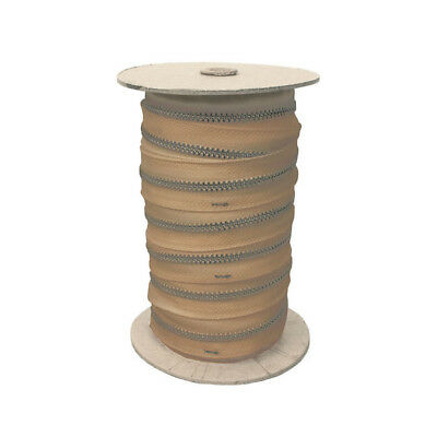 Zippers by the Roll, Aluminum, 275 yards - TAN