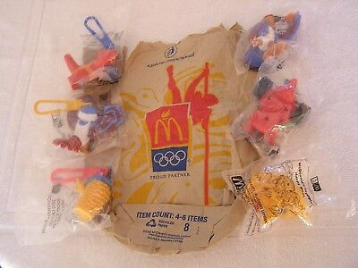 McDONALD'S SYDNEY 2000 OLYMPIC MASCOT  TOYS X 6   KEYRINGS X 3  HAPPY MEALS