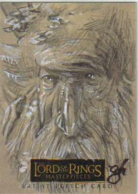 Lord of the Rings Masterpieces Gabe Hernandez Treebeard Sketch Card