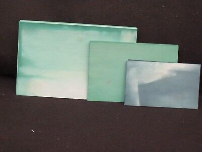 Lot of 30 Green/Lt Green Dip-Dyed Index Cards - 3 Sizes - I20 Junk Journal