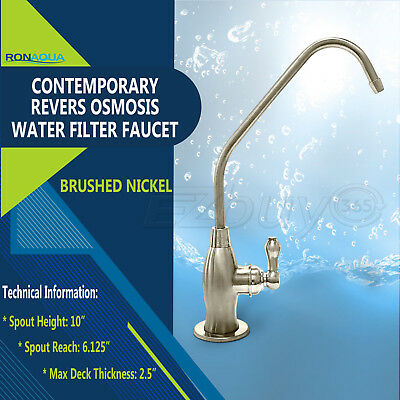 Contemporary High Spout Cold Water Kitchen Drinking Faucet Brushed Nickel