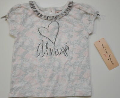 NWT Nanette Lepore Baby Girls Love Always top Shirt Size 2T Valentines Day