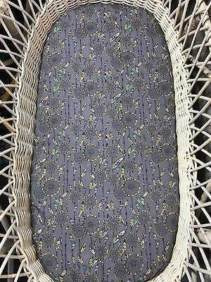 Moses basket bassinet bedding grey boho fitted sheet dream catcher feathers