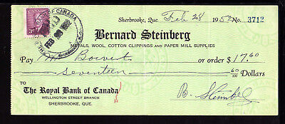 8U691 - 1952 Bernard Steinberg - Royal Bank Of Canada - Sherbrooke, Quebec