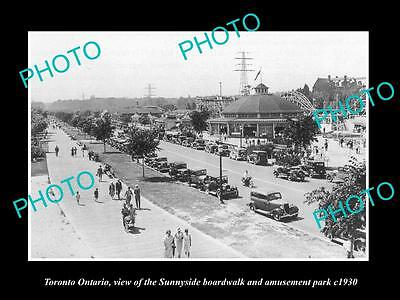 Old Large Historic Photo Of Toronto Ontario, The Sunnyside Amusement Park 1930 2