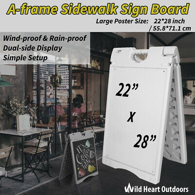 """Double Sided 22""""x28"""" A Frame Sidewalk Sign Whiteboard Poster Display Board Resta"""