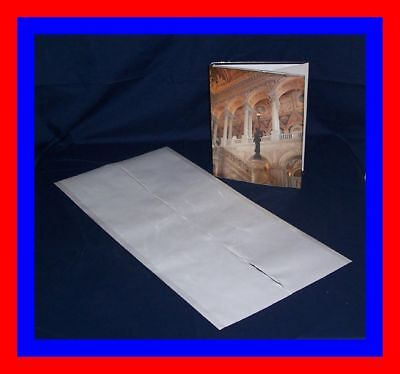"""5 - 14"""" x 28"""" Brodart ARCHIVAL Fold-on Book Jacket Covers - super clear mylar"""
