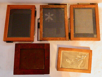 5 MASKING PRINT FRAMES, AGFA, KODAK  for 4x6 to 3 1/2 to5 1/8 an smaller  all wo