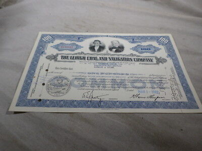 Lehigh Coal Navigation Railroad Company Stock Bond Certificate No N139801